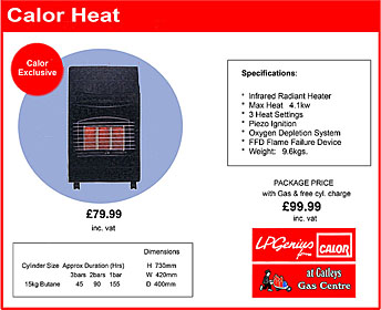 Calor Heat Infrared Radiant Heater