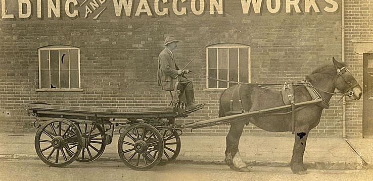 Catleys, Bill Clack and the new wagon - 1910-20