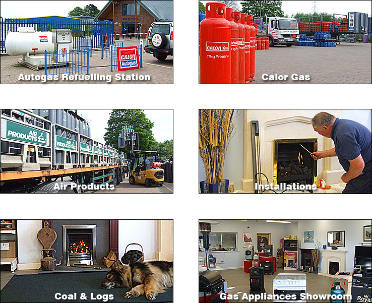 Catleys Services - Autogas Refuelling Station - Calor Gas - Airproducts - Installations - Coal and Logs - Gas Appliances Showroom